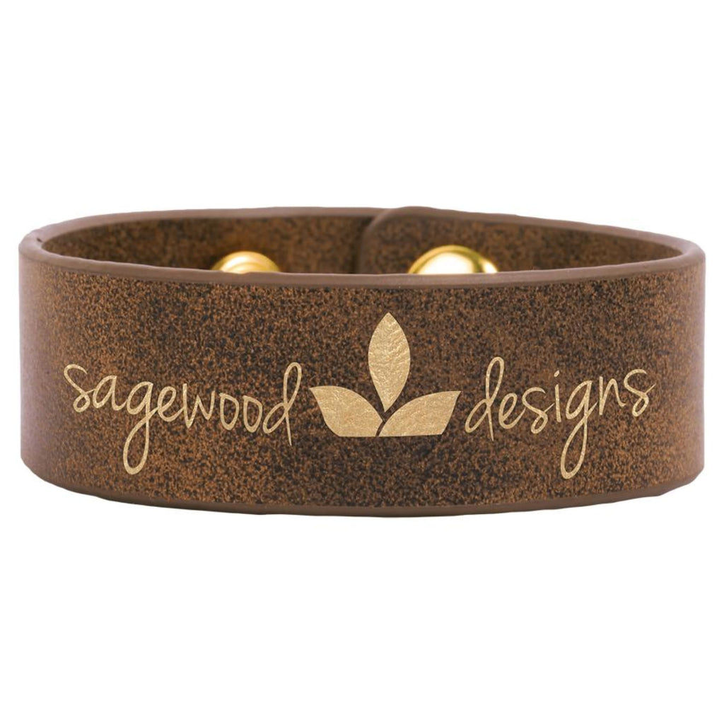 Vegan Leather Bracelet - Rustic | Gold / 1 x 9 - Bags & Apparel