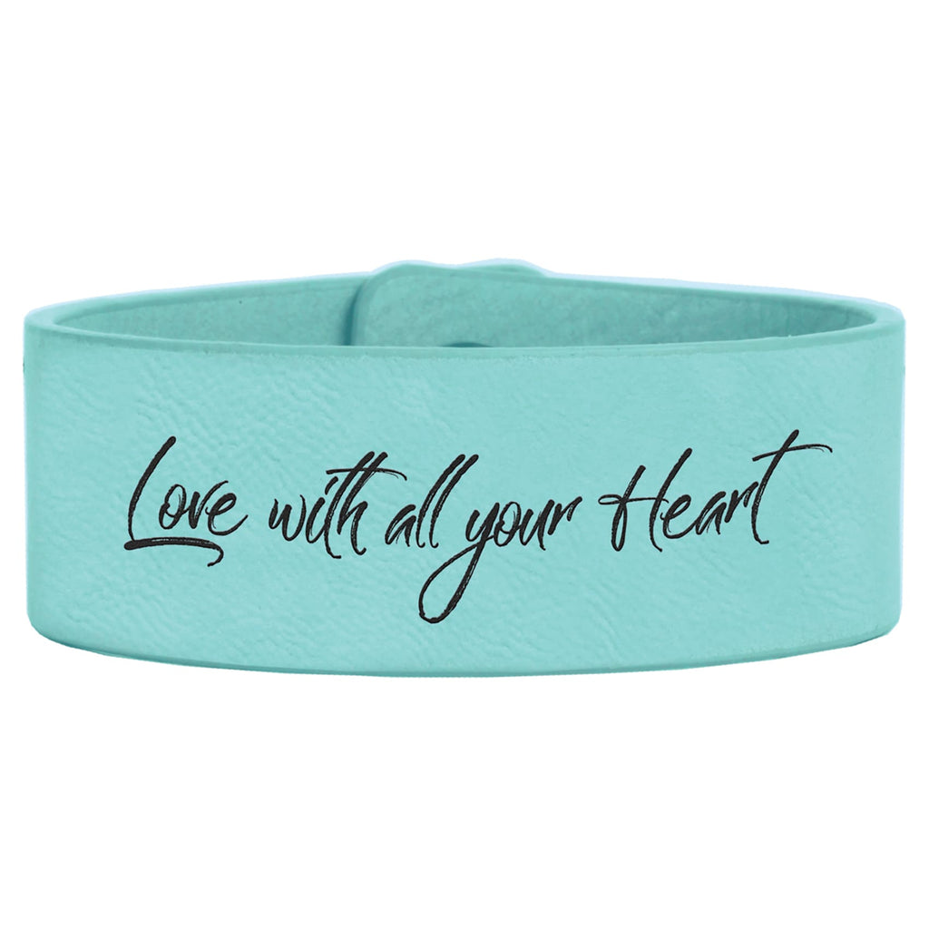 Vegan Leather Bracelet - Teal / 1 x 9 - Bags & Apparel