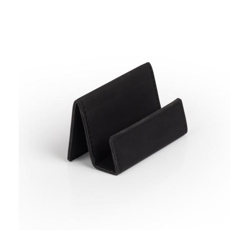 Vegan Leather Business Card Holder - Black - Office Gifts