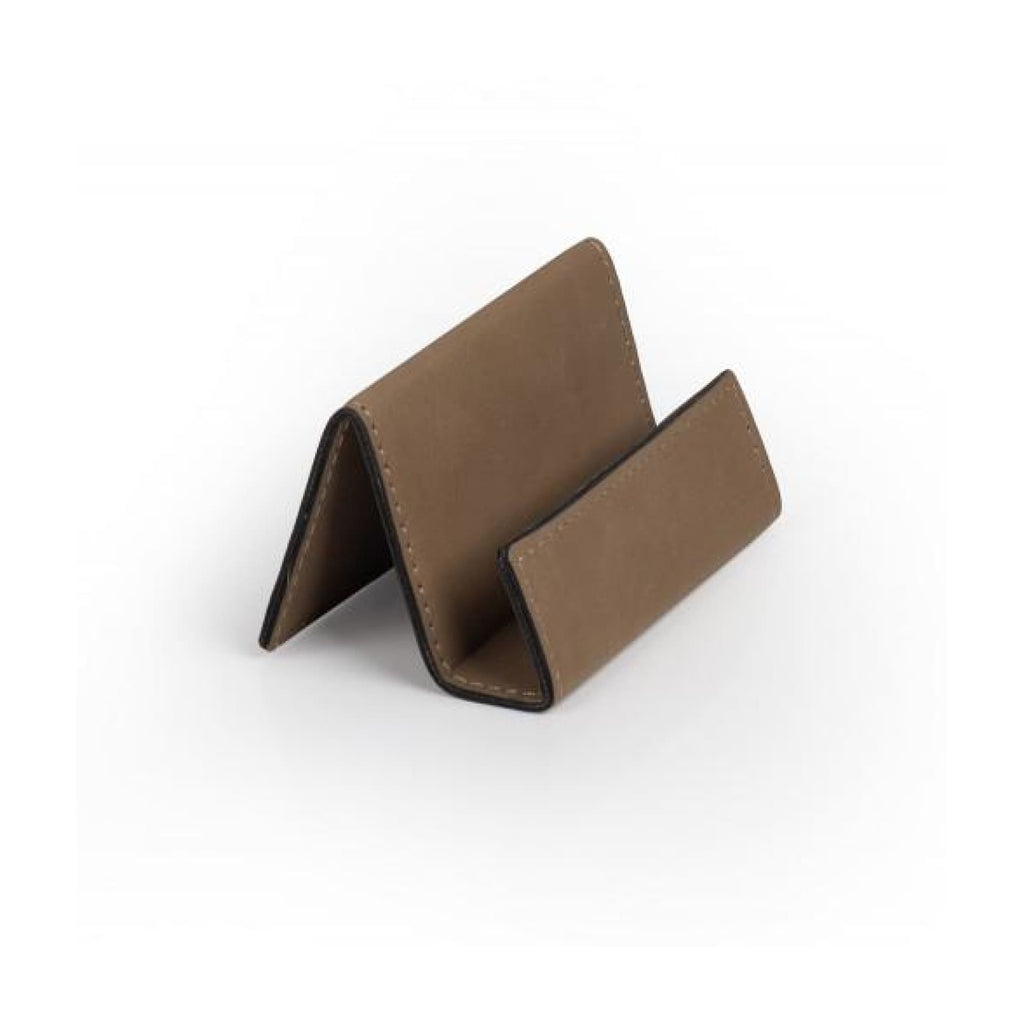 Vegan Leather Business Card Holder - Buckskin - Office Gifts