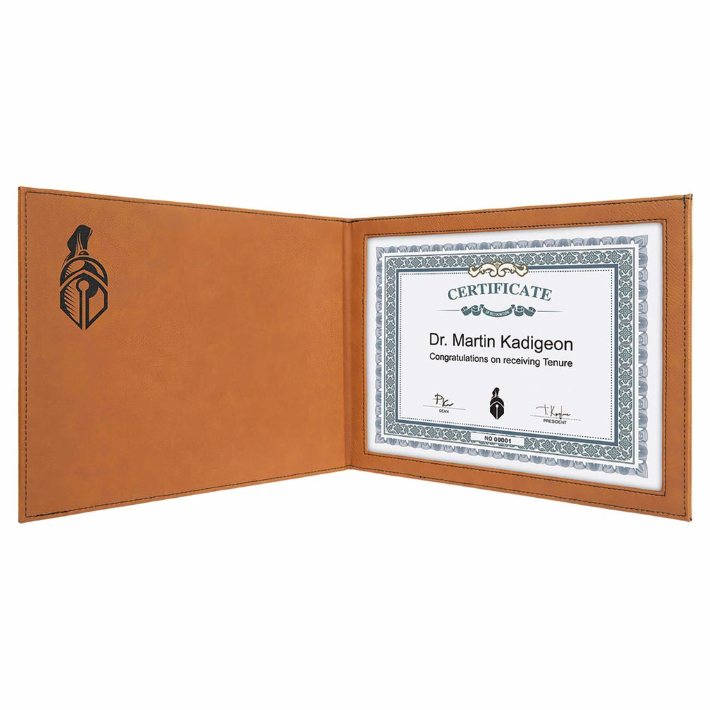 Vegan Leather Certificate Holder - Office Gifts