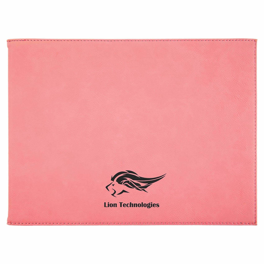 Vegan Leather Certificate Holder - Pink - Office Gifts