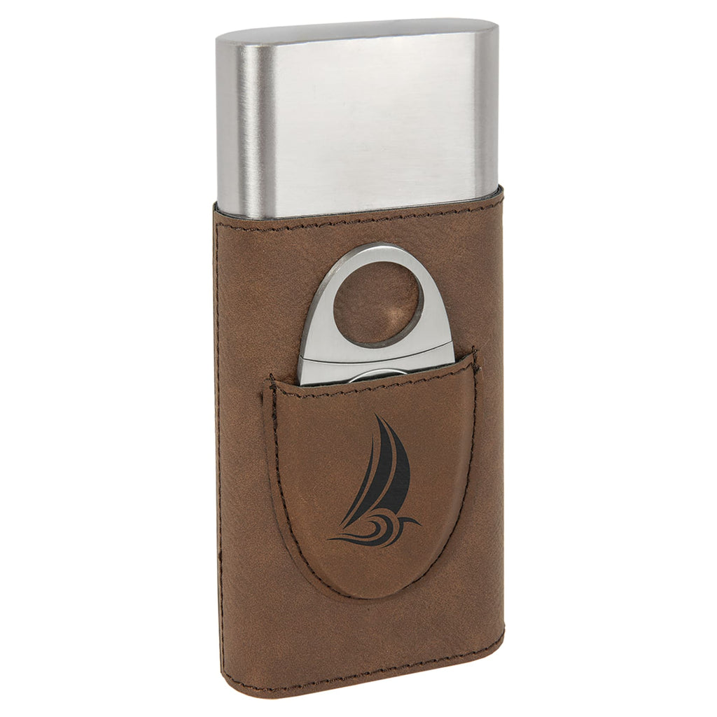 Vegan Leather Cigar Case with Cutter - Home Gifts