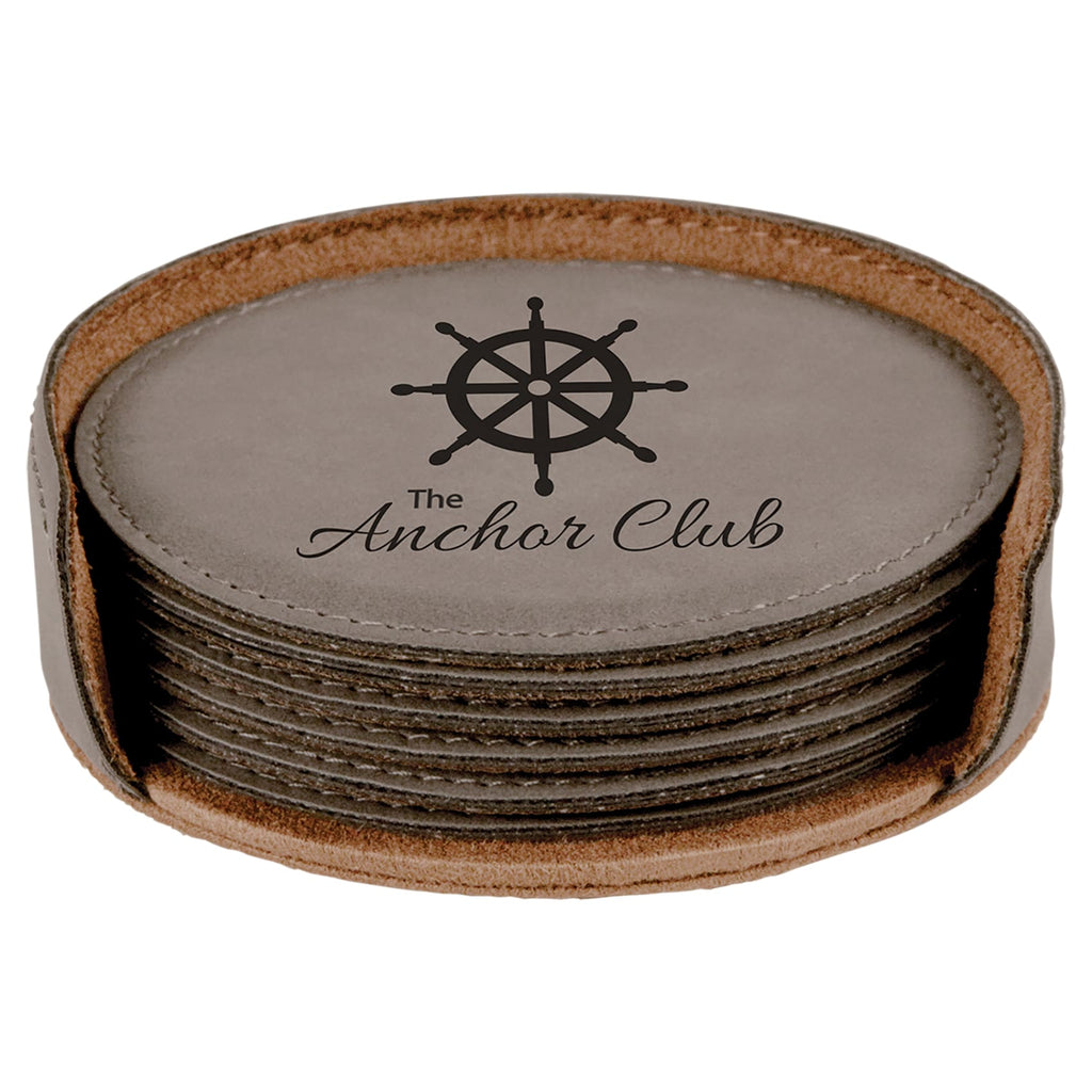 Vegan Leather Coaster Set - Home Gifts