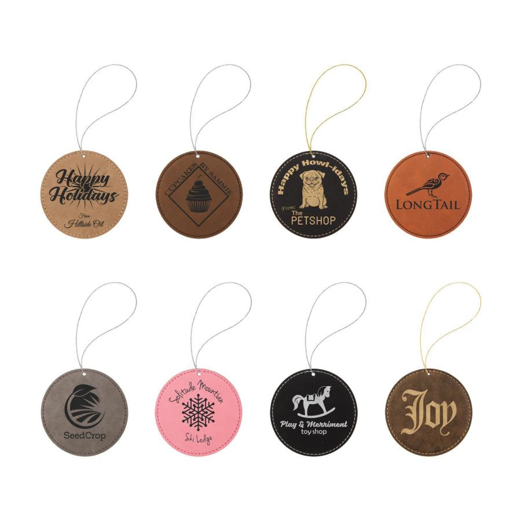 Vegan Leather Ornament - Multiple Shapes - Home Gifts
