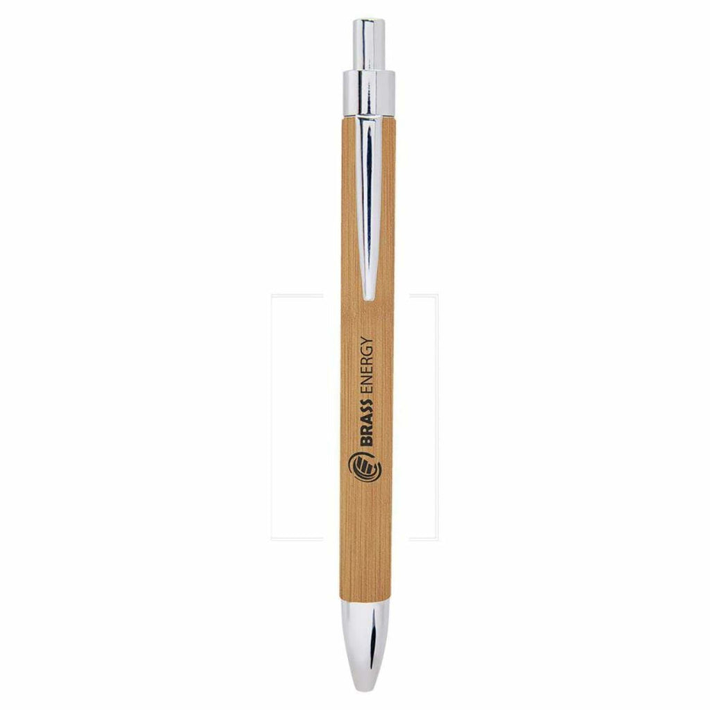 Vegan Leather Pen - Bamboo - Office Gifts
