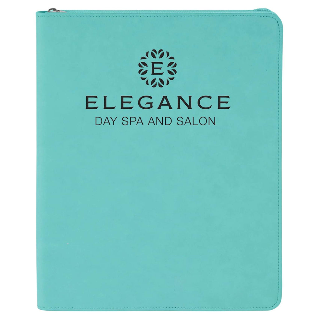 Vegan Leather Portfolio - Teal - Office Gifts