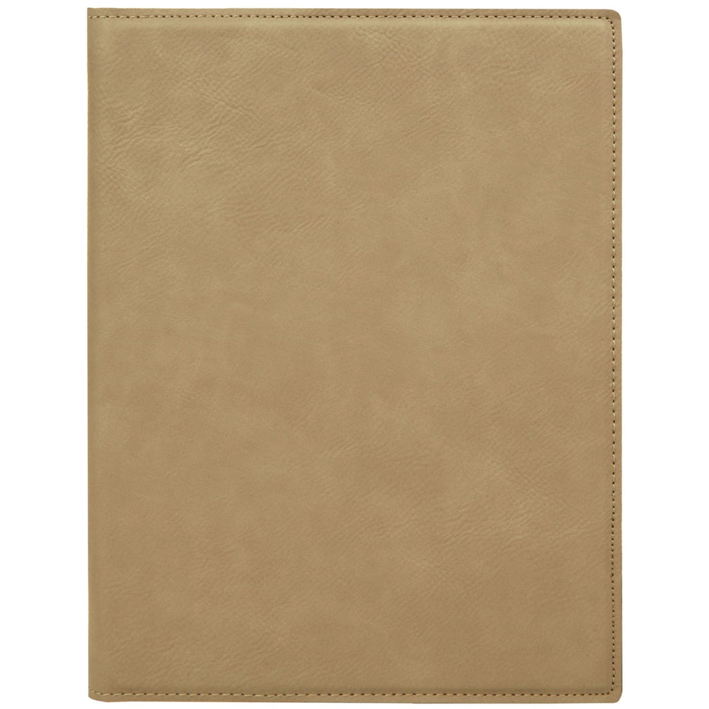 Vegan Leather Small Portfolio - Light Brown - Office Gifts