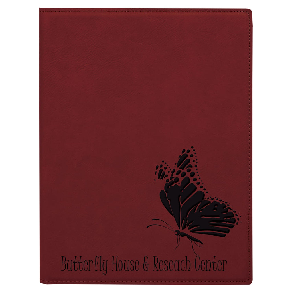 Vegan Leather Small Portfolio - Rose - Office Gifts