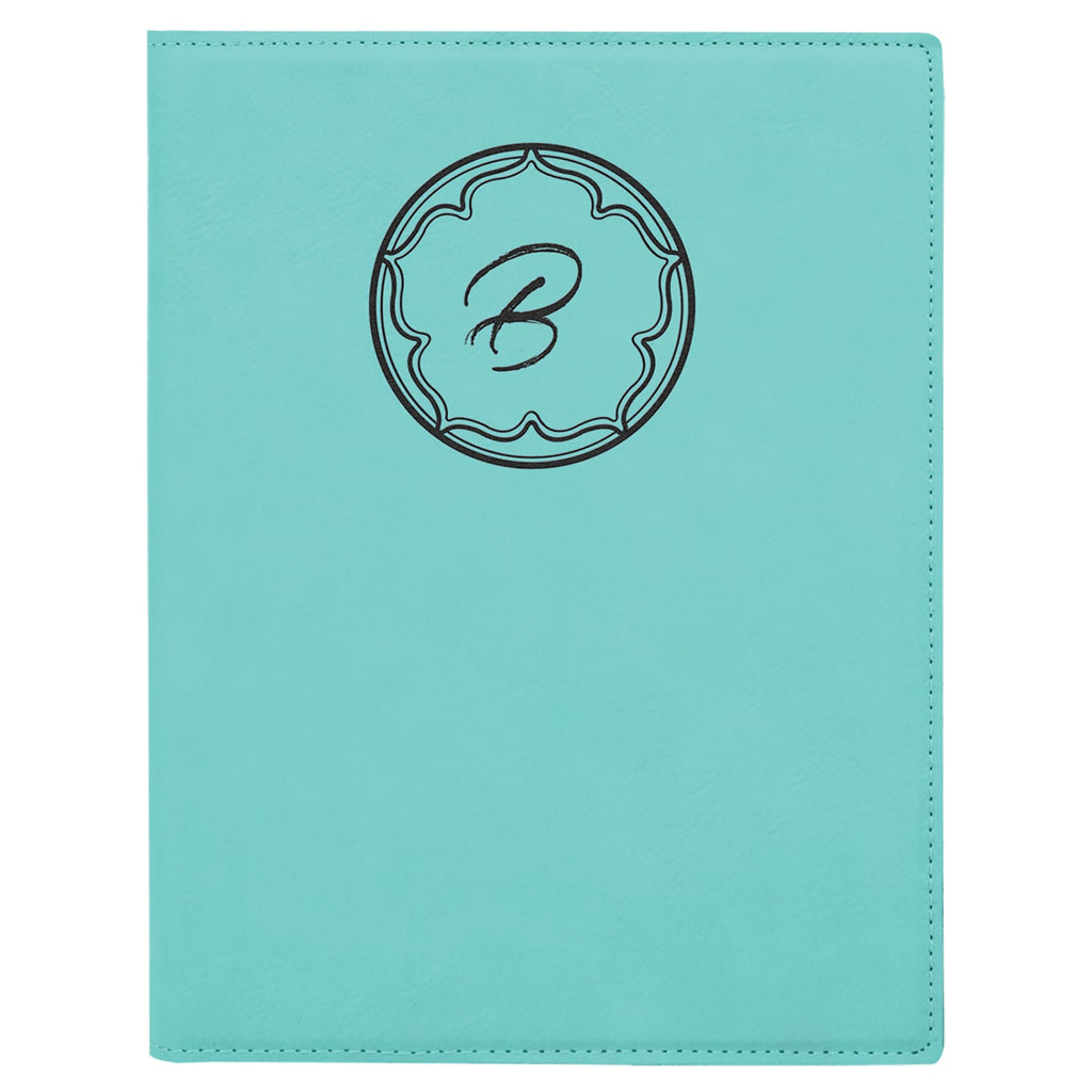 Vegan Leather Small Portfolio - Teal - Office Gifts