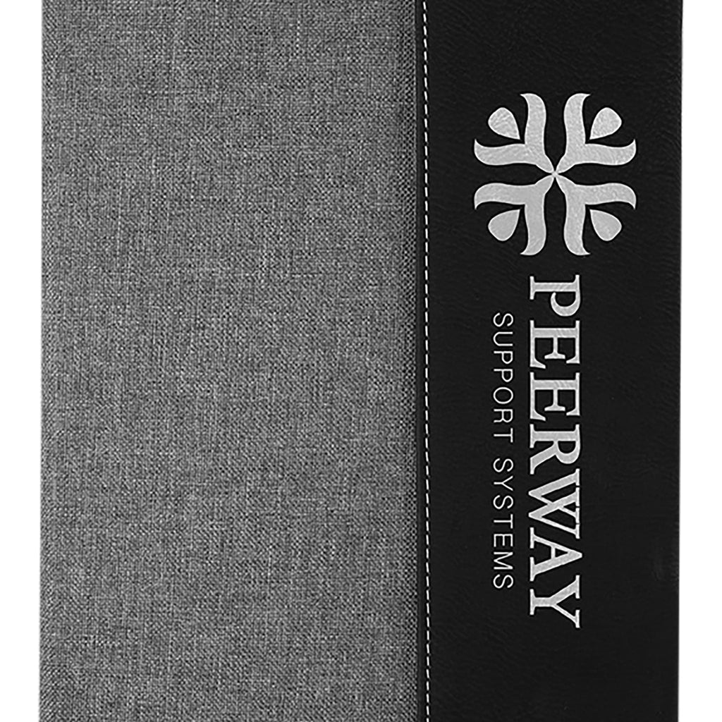 Vegan Leather Two-Tone Portfolio - Gray - Office Gifts