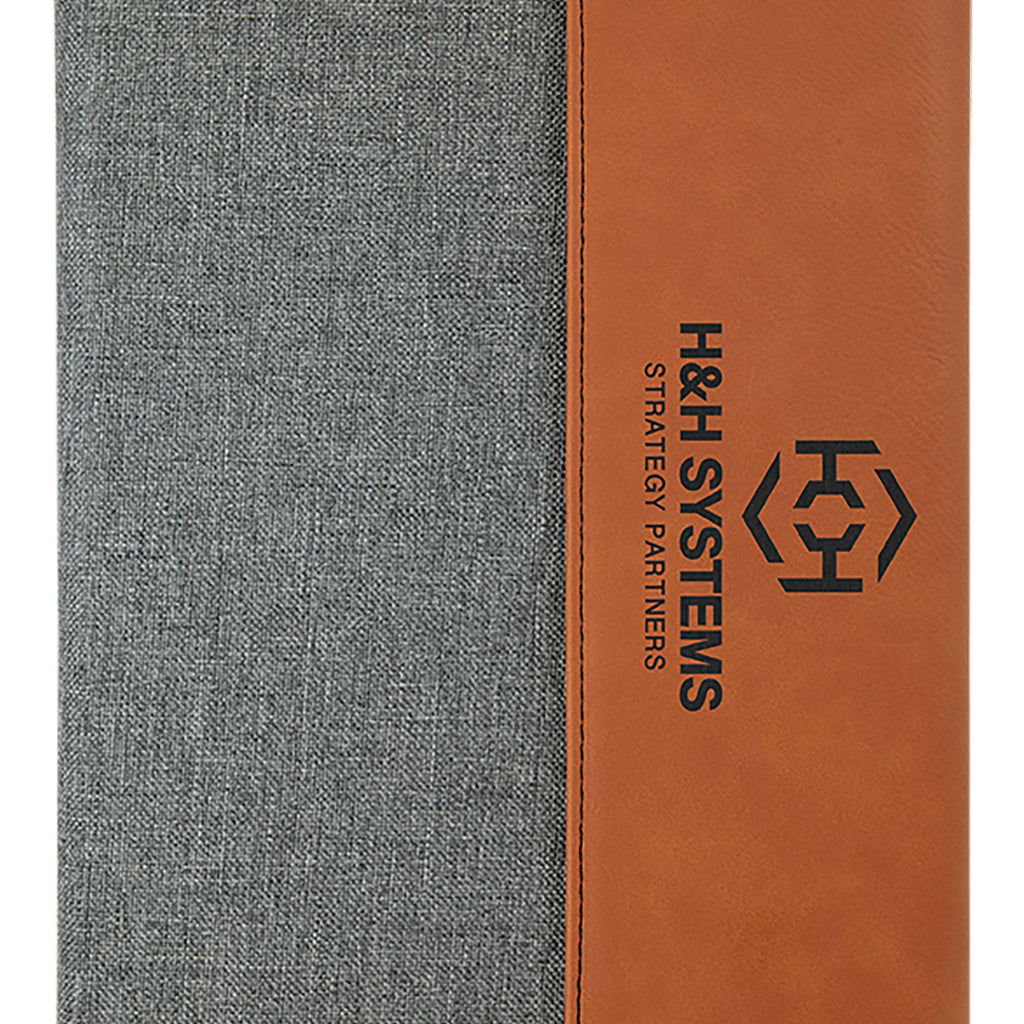 Vegan Leather Two-Tone Portfolio - Rawhide - Office Gifts