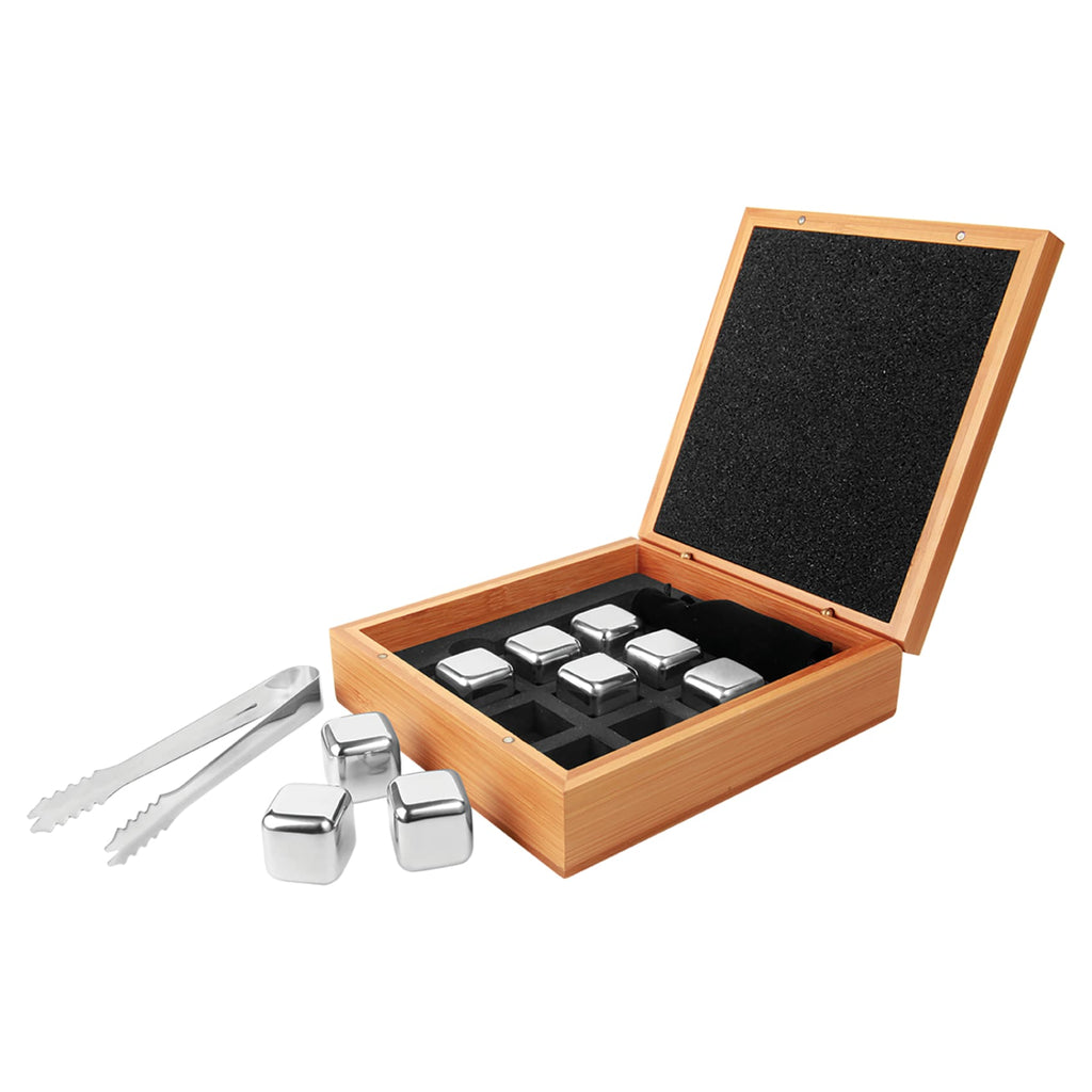 Whiskey Stone Set in Bamboo Case - Drinkware