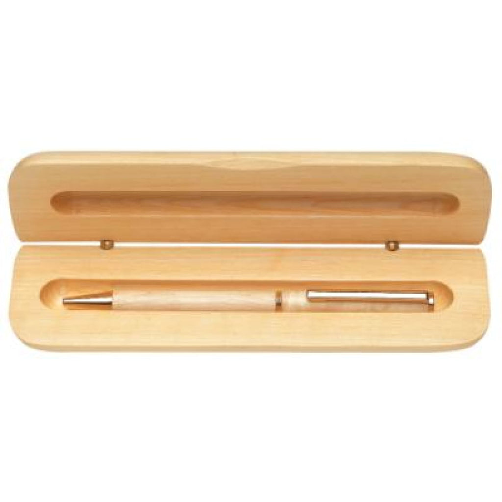 Wood Pen Case - Maple - Office Gifts