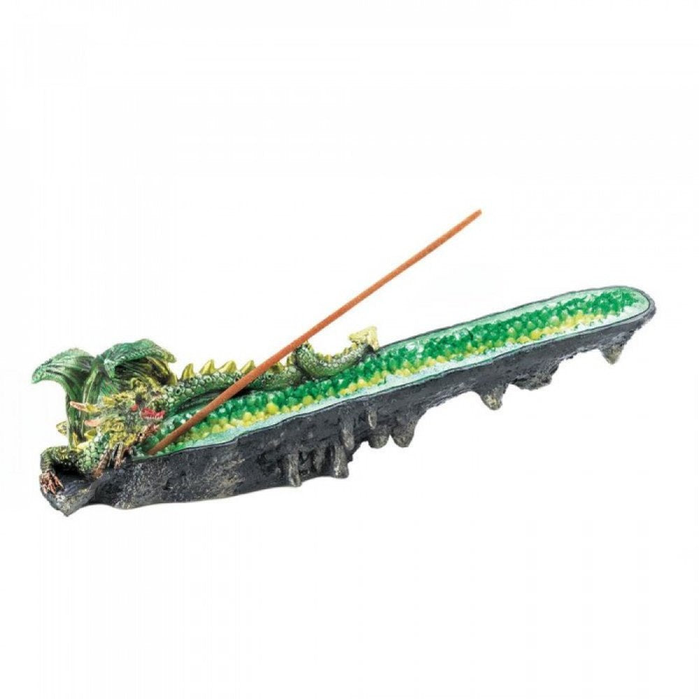 Green Dragon Cystal Incense Burner
