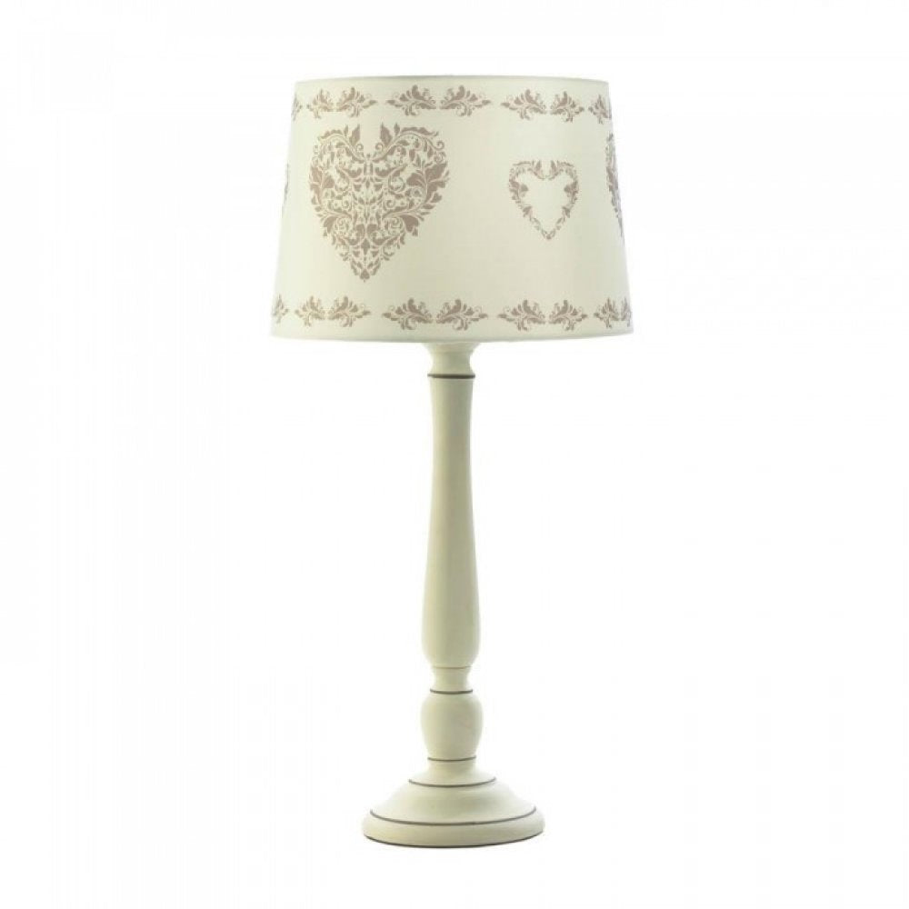 Vintage Hearts Table Lamp