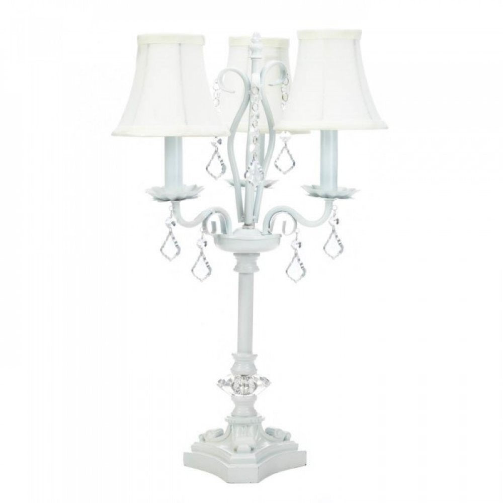White Chandelier Table Lamp