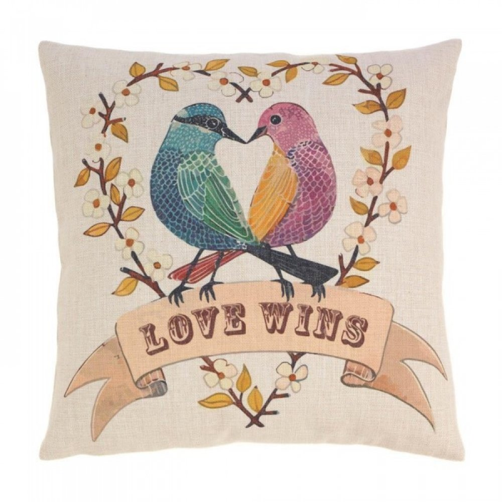 Love Birds Decorative Pillow
