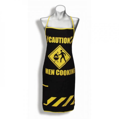 Caution Men Cooking Apron