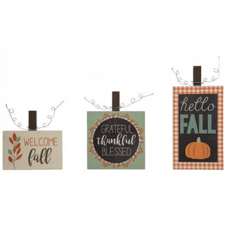 Thanksgiving Fall Welcome Signs Set Of 3