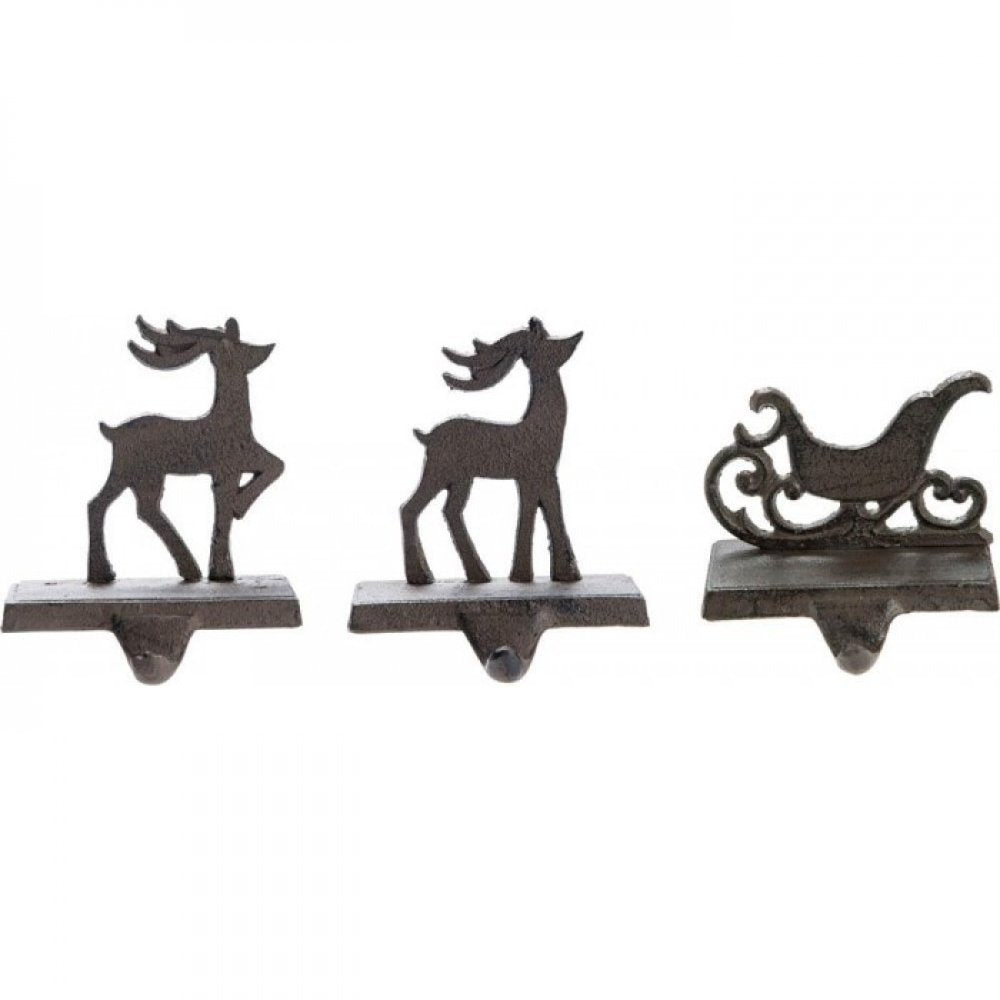 Iron Stocking Holders Set Of 3