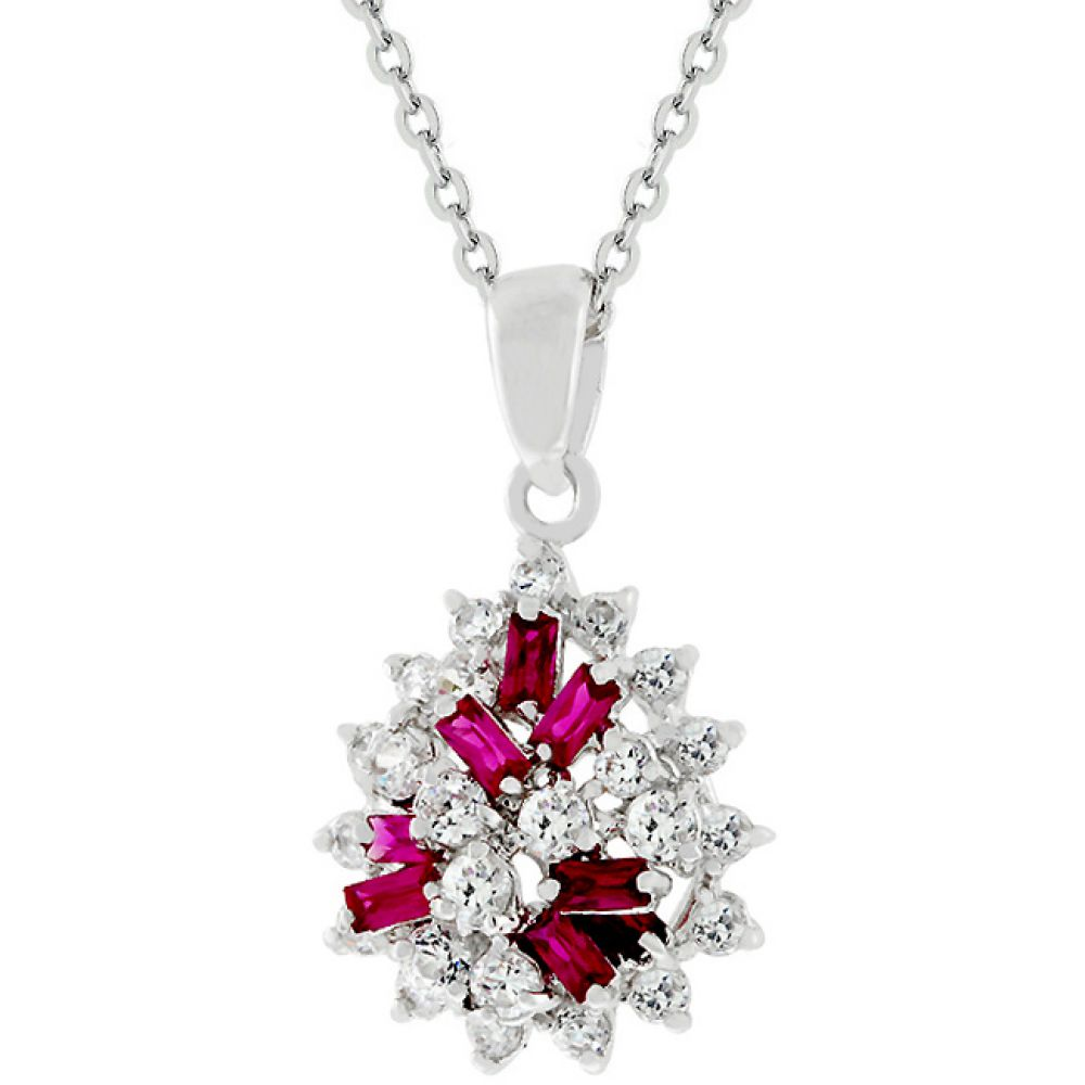 Cluster Of Ruby Pendant