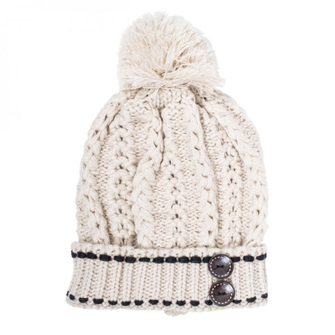 Off White Michelle Knitted White Stitch Beanie