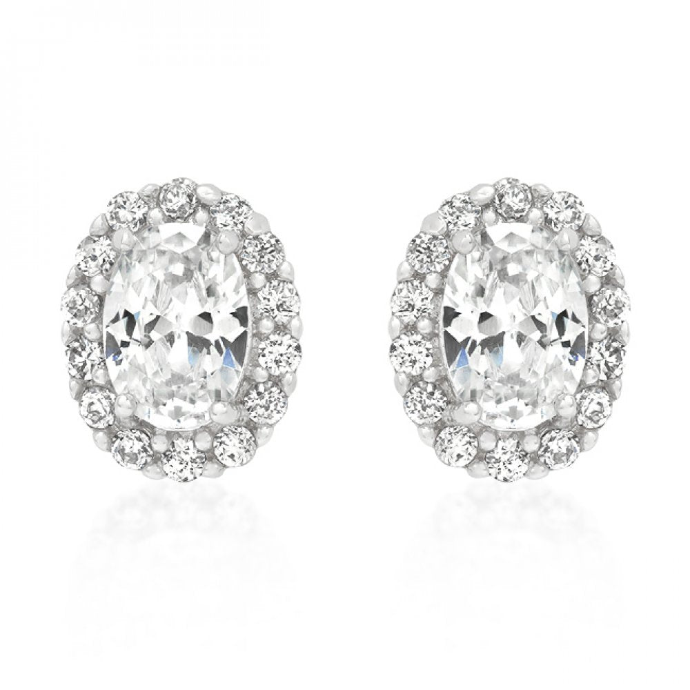 Clear Stone Estate Earrings