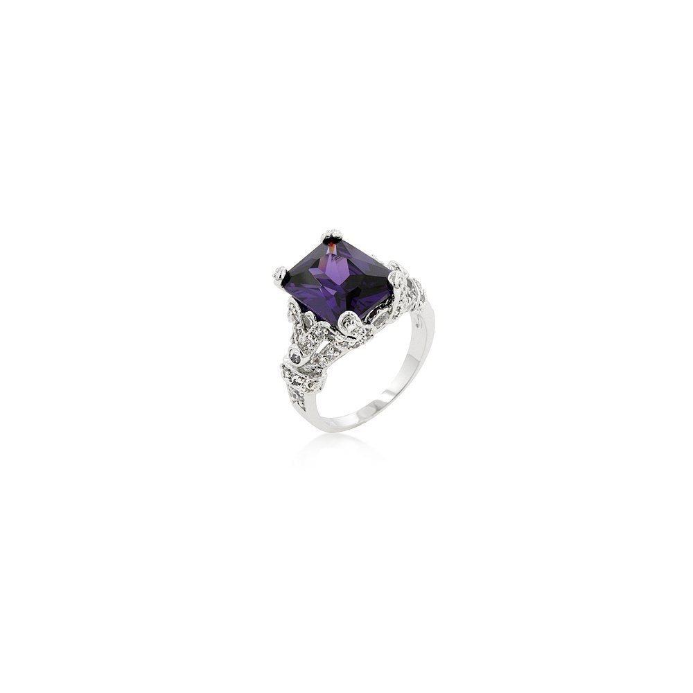 Amethyst Purple Princess Ring