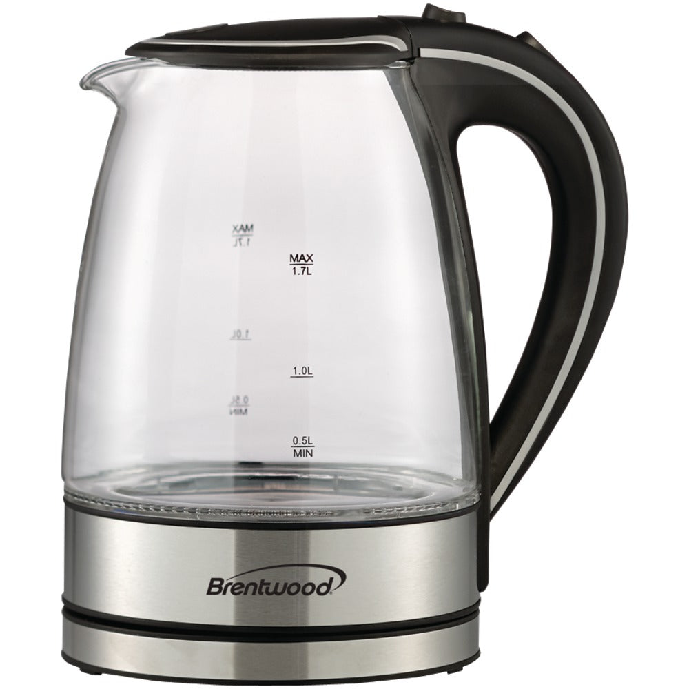 Brentwood 1.7-liter Tempered Glass Electric Kettle