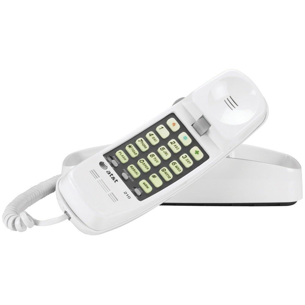 Att Corded Trimline Phone With Lighted Keypad (white)