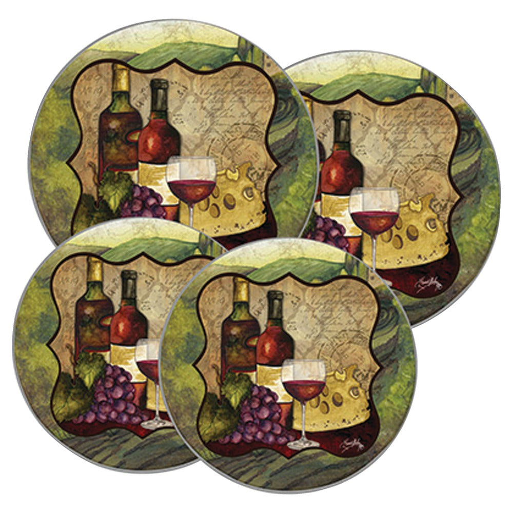 Range Kleen Wine Enthusiast Design Round Burner Kovers Set Of 4