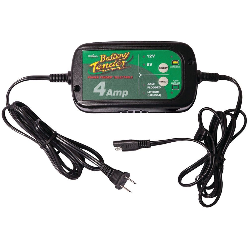 Battery Tender 12-volt And 6-volt Switchable 4-amp Battery Charger