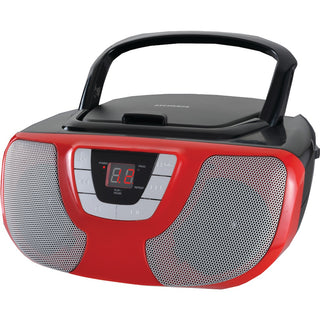 Sylvania Portable Cd Radio Boom Box (red)