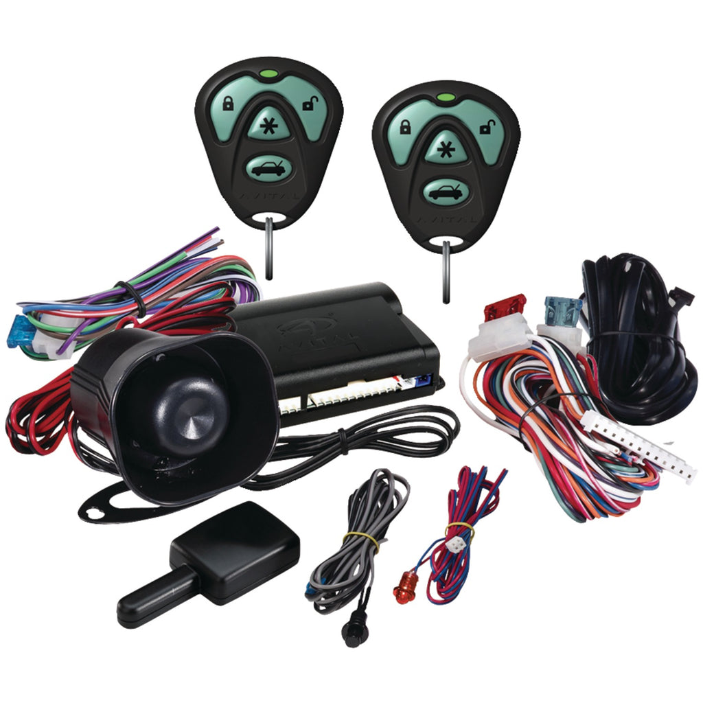 Avital 3100 1-way Security System With Siren & Two 4-button Remotes