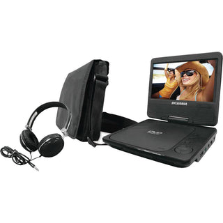"Sylvania 9"" Swivel-screen Portable Dvd Player With Carry Bag & Headphones"