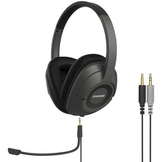 Koss Sb42 Full-size Communication Over-ear Headset With Detachable Boom Microphone (3.5mm Plugs)