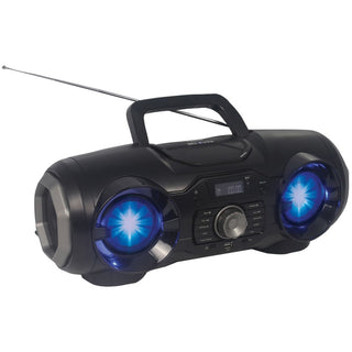 Naxa Portable Bluetooth And Mp3 And Cd And Usb And Fm Pll Stereo Boom Box With Disco Led Light