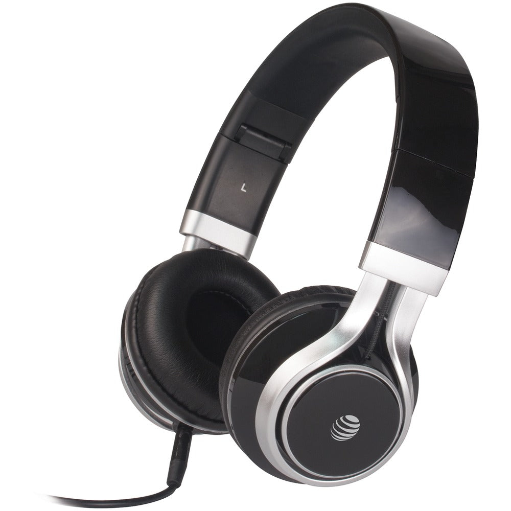 At&t Stereo Over-ear Headphones With Microphone (black)