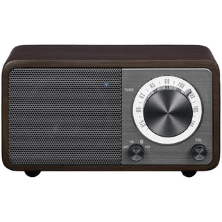 Sangean Wr-7 Series Mini Wood-cabinet Bluetooth Speaker With Fm Tuner (dark Cherry)
