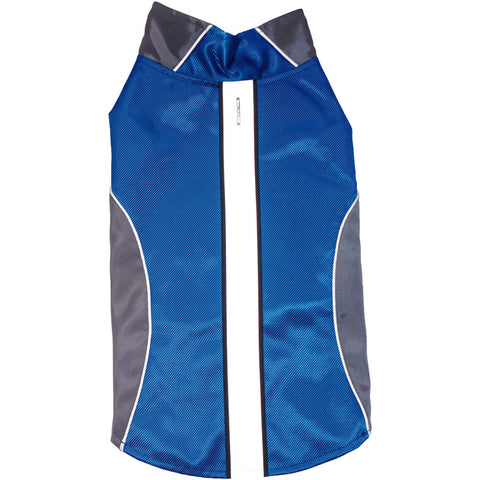 Royal Animals Water-resistant Dog Raincoat With Reflective Stripes Blue (small)