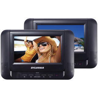 "Sylvania 7"" Dual Screen And Dual Dvd Portable Dvd Players"