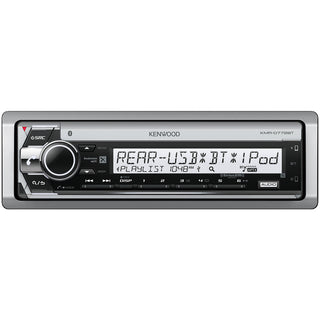 Kenwood Marine Single-din In-dash Cd Receiver With Bluetooth & Siriusxm Ready