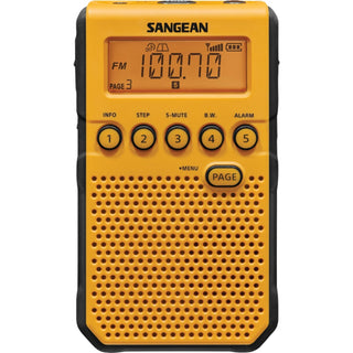 Sangean Am And Fm Weather Alert Pocket Radio (yellow)