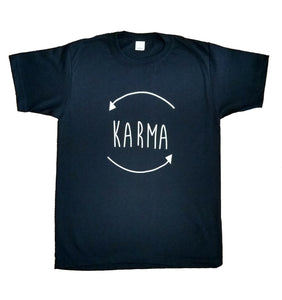 Women's Karma Cycle What Goes Around Yoga T-Shirt Exercise Meditation UK Stock!