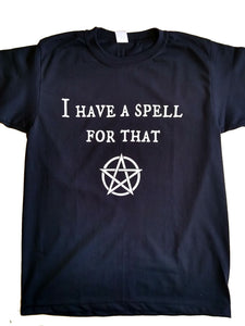 Women's Black I Have a Spell for That Yoga T-Shirt Dark Spell Star UK Stock!