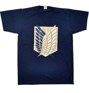 UNISEX Navy Blue Attack on Titan Logo Anime Manga T-Shirt UK SELLER!!!