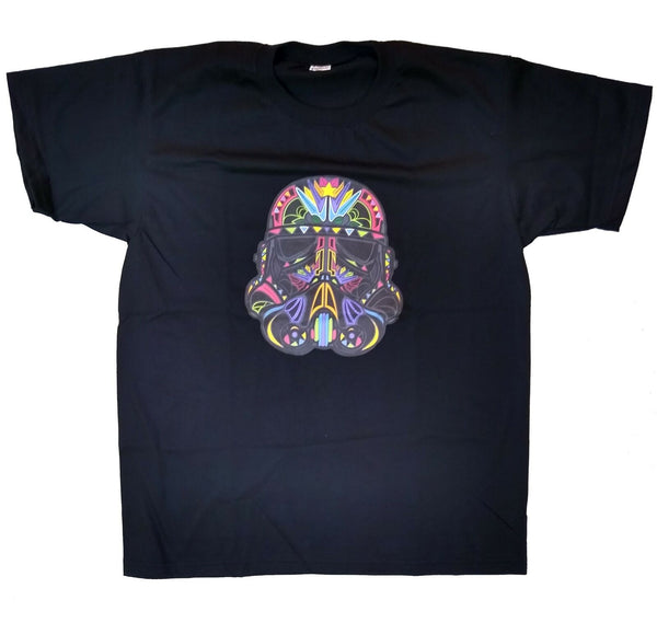 UNISEX Star Wars Colorful Sugar Skull Star Trooper T-Shirt Movie UK SELLER!!!