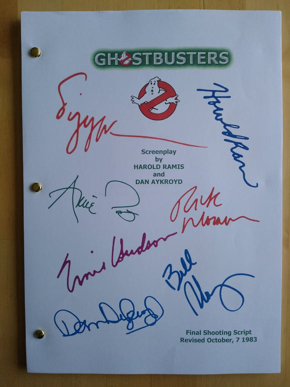 Ghostbusters  Film Script with Reprinted Autographs