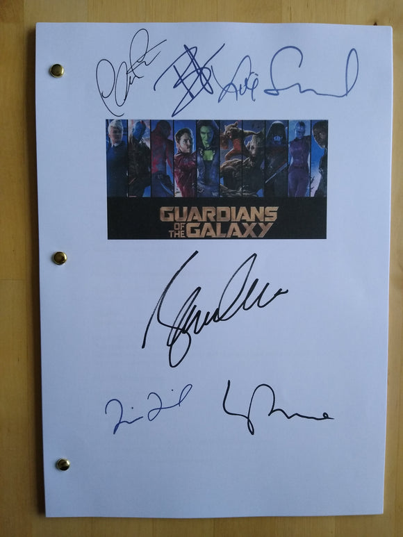 Guardians of the Galaxy  Film Script with Reprinted Autographs